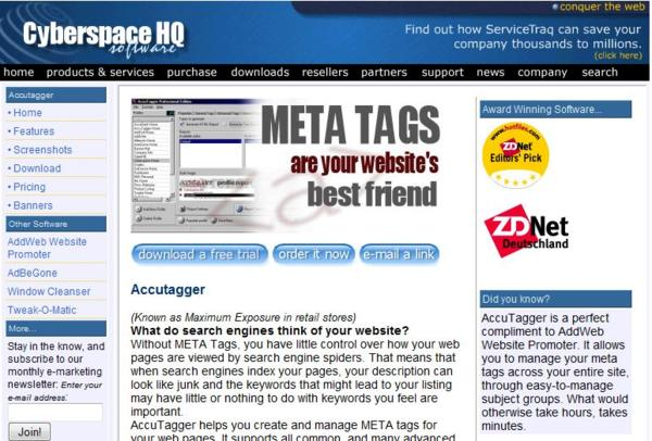 META Tag management made easy with Accutagger