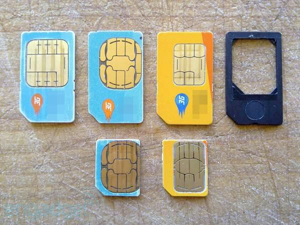 Apple's Resized SIM Cards