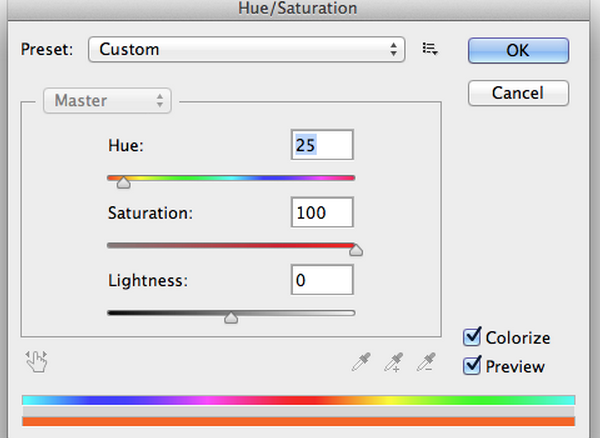 Hue and Saturation