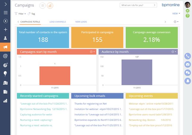 bpm'online cloud CRM solution