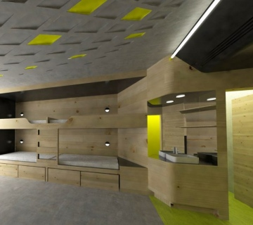 Youth Hostel Room: Aiming For The Wow Effect